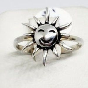 Real .925 Sterling Silver Sun Ring